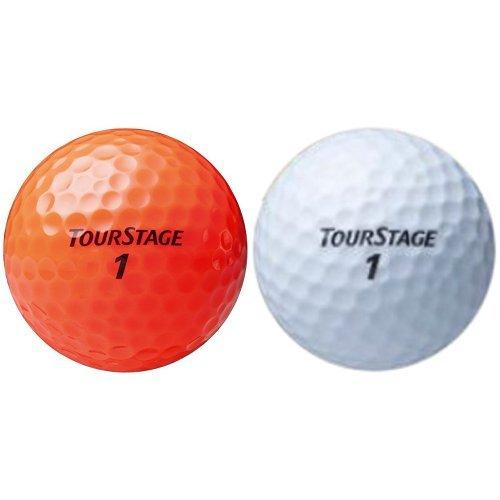 ブリヂストン ゴルフボール ツアーステージ エクストラディスタンス 2セット(1ダース/セット) オレンジ TEOX + ホワイト