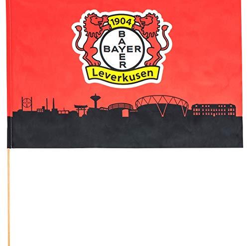 Flaggenfritze Stockflagge Bayer 04 Leverkusen - 60 x 90 cm + gratis Aufkleber