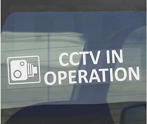 Platina plaats 2 x 200x50mm-standaard CCTV In bedrijf Ontwerp Window Sticker-CCTV Sign-Auto, Van,Vrachtwagen, Vrachtwagen, Taxi, Bus,Mini Cab,Minicab-Go Pro,Dashcam