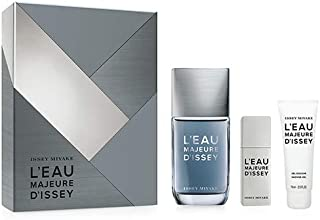 ISSEY MIYAKE L Eau Majeure For Men Edt Set, Perfume 100 ml + 20 ml + Shower Gel 75 ml