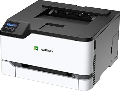 Lexmark C3224DW - Láser a Color (WLAN, LAN, hasta 22 ppm, impresión automática a Doble Cara), Color Negro y Gris