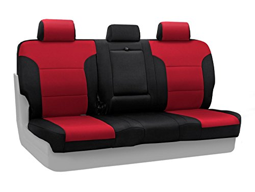 Coverking Custom-Fit Rear Bench Seat Cover - Neosupreme Fabric, Red :