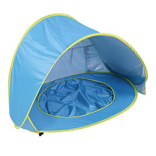 LIUQIGRASS Baby Strand Zonnekap Tent, Draagbare Baby Zonnebrandcrème UV50 + Waterdichte Kinderen Zwembad Tent, UV Bescherming Baby Strand Tent Zonnescherm