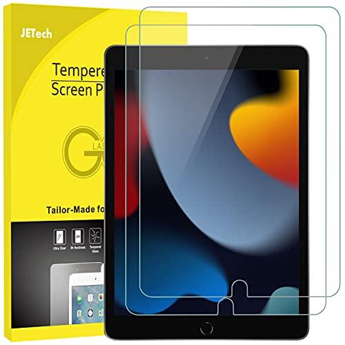 JETech Protector de Pantalla Compatible con iPad 9/8/7 (10,2 Pulgadas, 2021/2020/2019 Modelo), iPad Air 3 (10,5 Pulgadas, 2019) y iPad Pro 10,5 (2017), Vidrio Templado, 2 Unidades