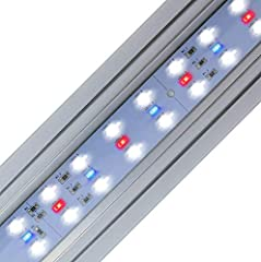 "20"" Pencil thin multi Color LED Fixture (44) 7000K + (8) actinic Blue LEDs + (8) 660Nm RED LEDs Tri-color blend to promote and showcase inhabitants 3 position switch +moonlights"
