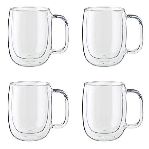 ZWILLING J.A. Henckels Coffee Mug Set, 12 oz, Clear