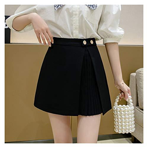 ZXCVB ZHENZEN Falda Mujer Plisada Verano Mini Falda Plisada Irregular Plisada de Cintura Alta Corta Ropa Coreana Faldas Cortas Ajustadas de Cintura Alta Mujer Verano Elegante