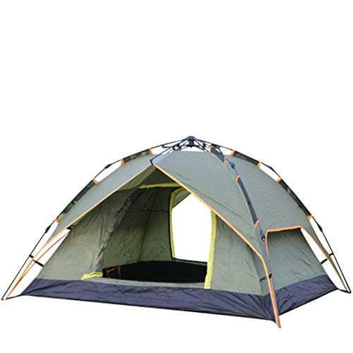 ZoSiP Outdoor Camp Folding Tent Camping Multi-person Rainproof And Moisture-proof Double-layer Tent (Color : Green, Size : 210x180x135cm)