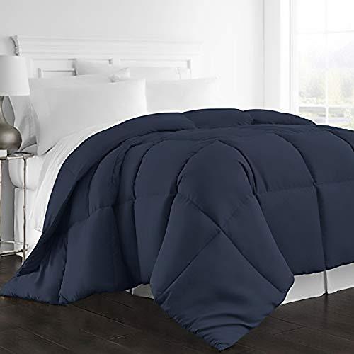 Beckham Hotel Collection 1300 Series - All Season - Luxury Goose Down Alternative Comforter - Queen/Full - Navy