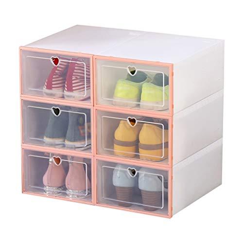 SHANCL Modernos Zapato Zapatero Zapatero Mueble de baño Hogar Moda de Zapatos en el Armario de los Hombres de Rack Cube (Color : Pink)