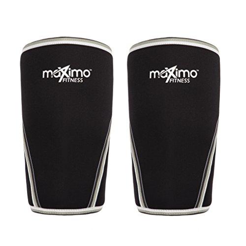 Maximo Fitness Ginocchiere (1 Paio) - Neoprene 7 mm Knee Sleeves - Supporto e Compressione per Il Crossfit, Weightlifting, la Corsa, Lo Sci e Lo Sport in Generale. Sia per l'Uomo Che per la Donna.