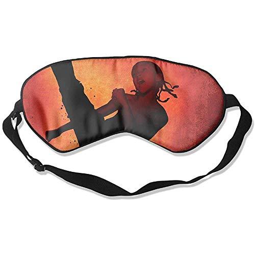 Slaap oogmasker Karate Kid zachte oogstrip verstelbare hoofdband Eyeshade Travel Eyepatch
