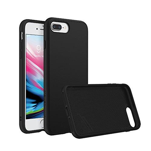 RhinoShield Coque Compatible avec [iPhone 7 Plus / 8 Plus] | SolidSuit - Housse Fine avec Technologie Absorption des Chocs & Finition Premium - Noir Classic
