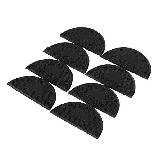 YeVhear - Tacón de goma para zapatos, botas y zapatos, 8 piezas, color negro