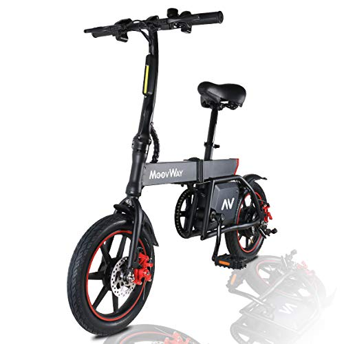 MoovWay Bicicleta Eléctrica Plegables, 350W Motor Bicicleta Plegable
