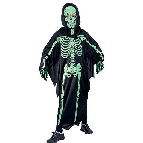 Ciao Costume Dark Skeleton tg.M (5-7 anni) Bambini unisex, Nero/verde, 61048.M