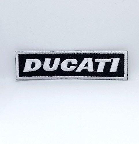 Parche bordado con letras de Ducati para planchar y coser