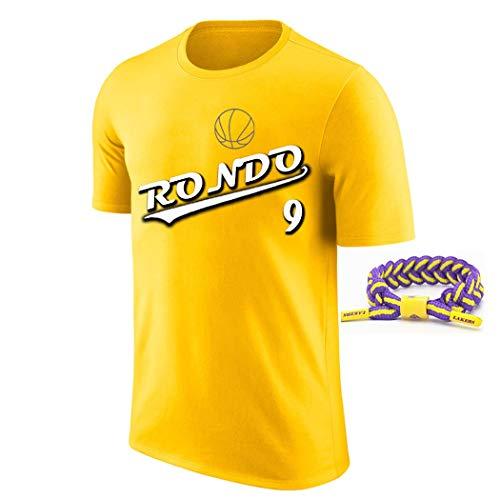 YUUY Camiseta de Baloncesto Rajon Rondo # 9 Ropa de Entrenamiento de Baloncesto, Camisetas Deportivas de Secado rápido, Regalos navideños para niños y Adultos (Color : Amarillo, Size : Large)