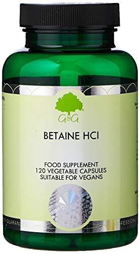 G&G Vitamins Betaine Hcl (Hydrochloride) - 120 Vegan Capsu