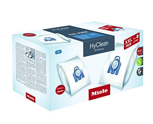 Miele HyClean GN3D 10408410 Sacchetti per la polvere, XXL pack, Confezione da 16+8 filtri