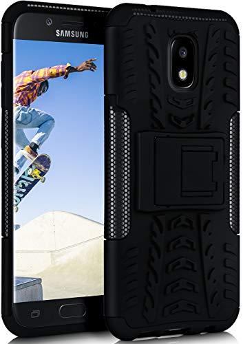 OneFlow Cover Sportiva Doppio Strato Compatibile con Samsung Galaxy J5 (2016) | Silicone/plastica, Nero