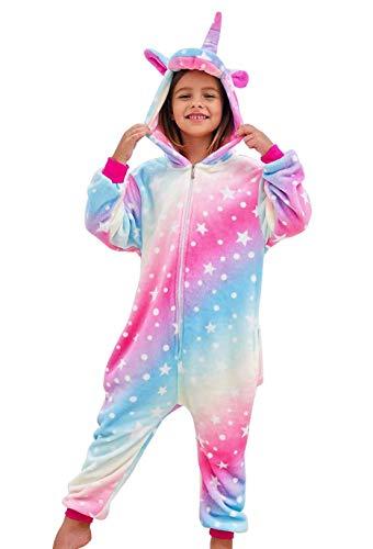 DRESHOW Weiche Mädchen Einhorn Bademantel Nachtwäsche Komfortable Onesie Tier Schlafanzug Pyjamas...