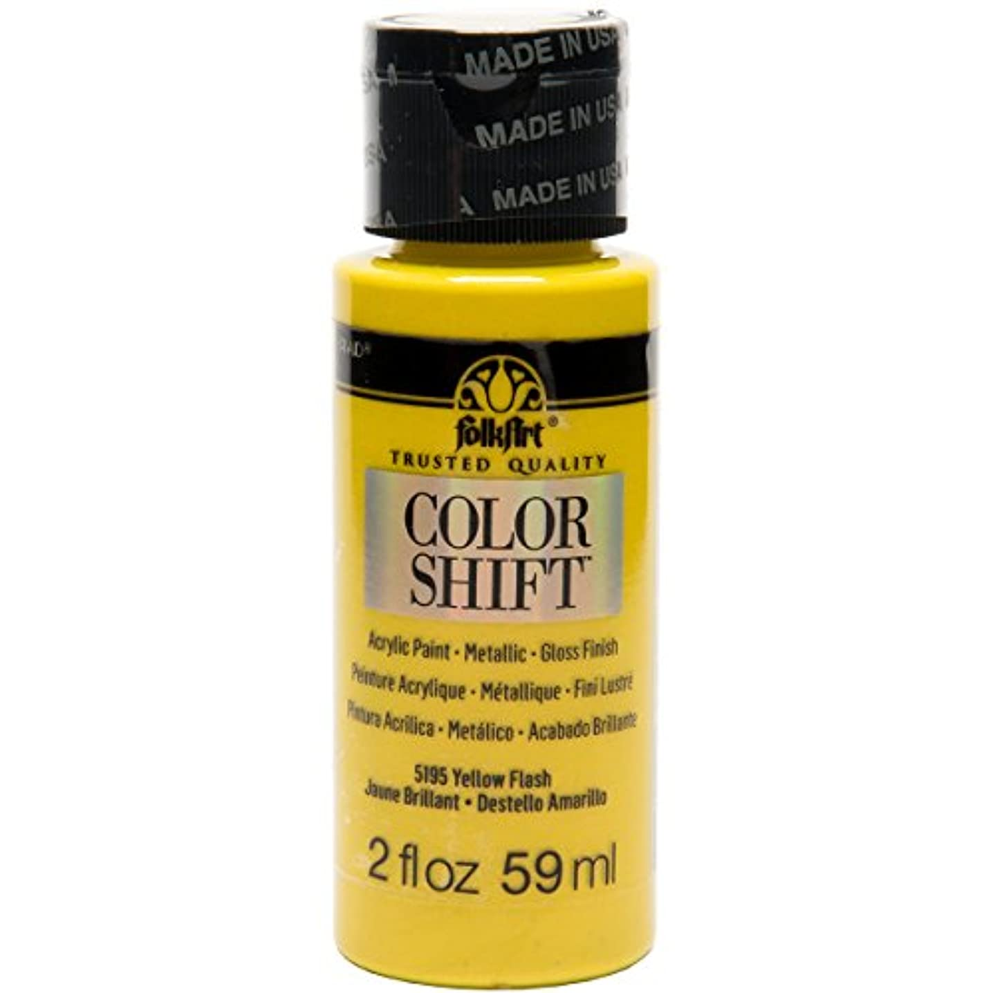 FolkArt Color Shift Acrylic Paint in Assorted Colors (2 ounce), 5195 Yellow Flash