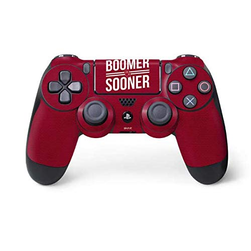 Skinit Decal Gaming Skin for PS4 Controller - Officially Licensed College Oklahoma Boomer Sooner Design