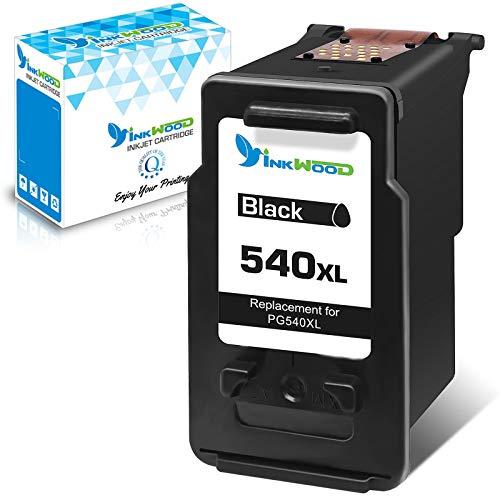 Inkwood Remanufactured for Canon 540XL 540 XL Cartucho de Tinta 1 Pack Negro para Canon Pixma MG2450 MG2250s MG2950 MG3050 MG3200 MG3650 TR4550 TS3150 TS5150 TS5151