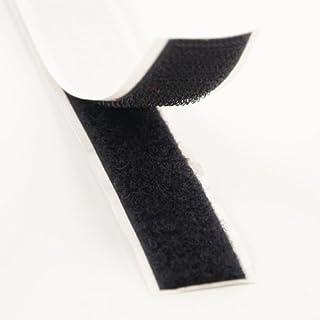 Klebeshop24 KLETTBAND SELBSTKLEBEND   Set Haken & Flausch   Farbe, Länge, Breite wählbar (20 mm x 3 m, Schwarz)