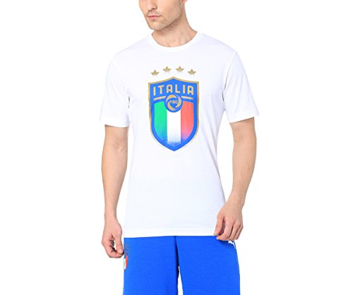 PUMA 752613 02, Maglietta Uomo, Bianco, L