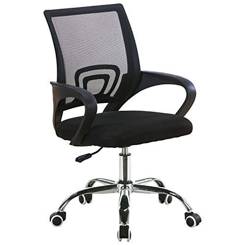 Silla de Oficina con Soporte Lumbar transpirable, ergonómica y cómoda
