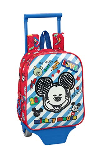 Mickey Mouse Maker Mochila guardería ruedas, carro, trolley