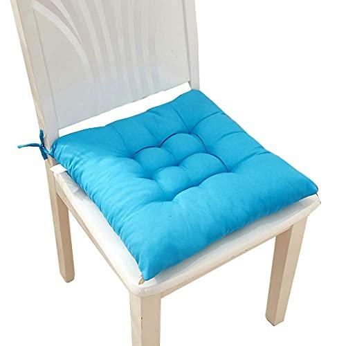 WEIGE Cojines para sillas Cojines para Asientos Algodón Suave Cocina Comedor Cojines para sillas Cojín Cojines para Asientos Almohadas con Lazos Juego de 6 15.7'x15.7