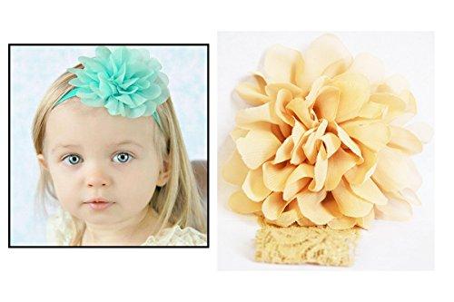 Bandeau dentelle cheveux fille Enfant & Bébé Fleur pompom Ecru