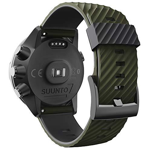WIIKAI Pulsera de Repuesto Compatible para suunto 7/9/9 baro/Spartan Sport/D5 Silicona Reloj de Pulsera,