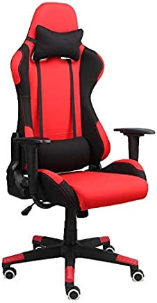 Racoor Video Gaming Chair, Black and Red - H 134 cm x W 66 cm x D 52 cm