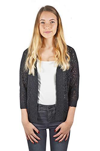 Vero Moda VMALLY 3/4 Knit Cardigan Noos Chaqueta, Negro, M para Mujer