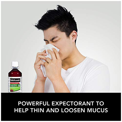 Robitussin Maximum Strength Cough and Chest Congestion DM Non-Drowsy Liquid Box, 8 Fl Oz