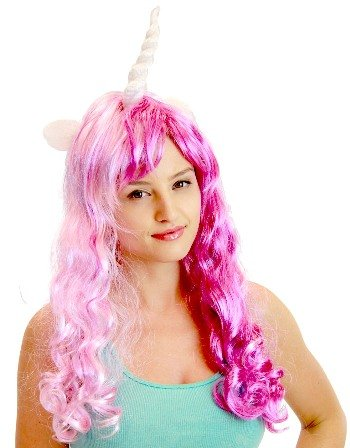 My little pony tV store costume wigs violet/rose taille du chanteur)