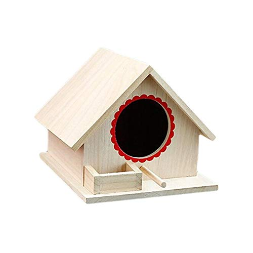 HAOZHAO Holz-Voliere im Freien Garten-Vogel-Nest-Vogelkäfig Pet Supplies (Size : One Size)