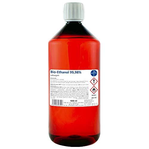 Kamin-Ethanol, 99,98% Alkohol-Gehalt, wasserfrei I 1000 ml I Bioethanol I HERRLAN-Qualität I Made in Germany
