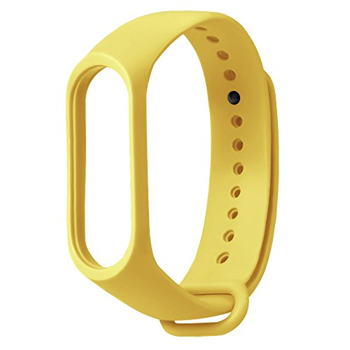 QXLhxuIo Reemplazo para Correa de Recambio para Pulsera Actividad XIAOMI MI Band 3 Wireless Correa Reloj (No Host), Ajustable,Impermeable Compatible con Unisex, Diseño Colorido Correa (Amarillo)