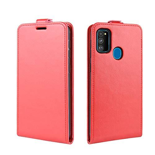 futypei für Samsung Galaxy M30s Hülle, Ultra Thin PU Leder Handyhülle mit Standfunktion Magnetisch Ledertasche Schutzhülle Tasche Case Lederhülle Flip Case - rot