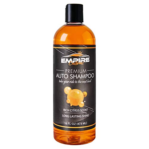 Empire Customs Car Wash Soap - 1 Citrus Scented Liquid Car Shampoo Bottle 16 Oz For Auto Washing - USA-Made Carwash Supplies For Use With Sponge, Bucket, Snow Foam Cannon And Pressure Washer