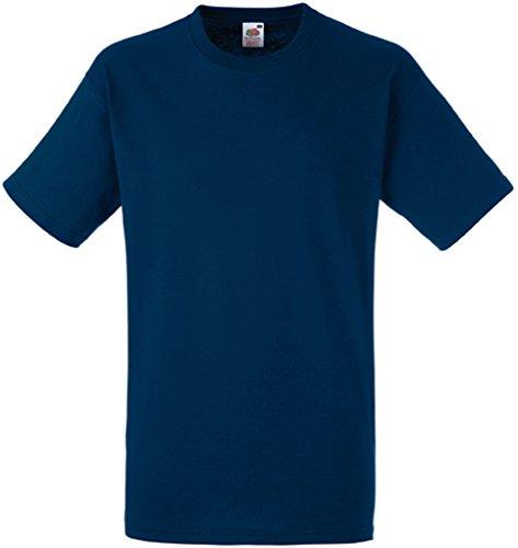 Fruit of the Loom Herren Heavy Cotton T T-Shirt, Blau (Navy 200), Large
