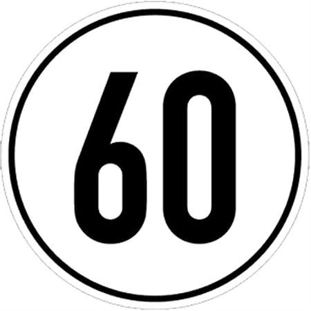 Schild Geschwindigkeitsschild 40 Km H Alu Ø 20 Cm Baumarkt