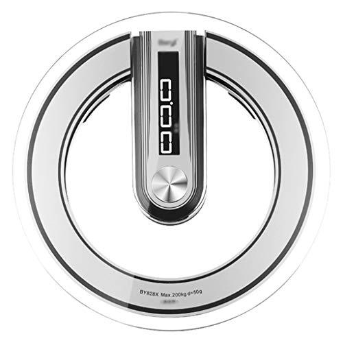 CAD Voce Tonda Scala Umana, Bilancia Tonda, Robusta e duratura, Trasmissione vocale, Display Verticale, casa, Palestra Universale (200 kg)