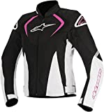 Alpinestars Women's Stella T-Jaws V2 Air Motorcycle Jacket, Black/White/Pink, Small