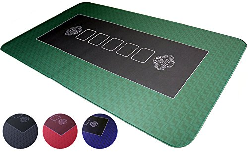 Bullets Playing Cards Profi Pokermatte grün in 100 x 60cm eigenen – Pokertisch - Deluxe Pokertuch Tischunterlage Pokerteppich – Pokertischauflage